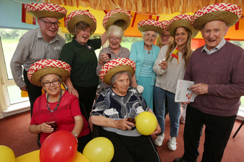 Residents at Kingsgate Care Home have been putting their Spanish to the test with lessons from Lingo Flamingo.