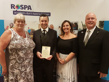 Barchester Healthcare is celebrating after receiving a prestigious award from the Royal Society for the Prevention of Accidents (RoSPA) for their contribution to occupational health and safety in the healthcare sector.