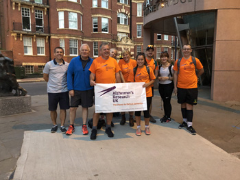 A group of nine brave employees from Hallmark Care Homes' Central Support Office in Billericay, Essex, walked 62 miles in two days, raising £13,700 for Alzheimer's Research UK.