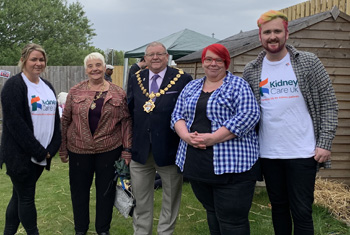 A residential care service in Leeds gathered a rich harvest of donations for charity when staff and residents held a farm-themed Fun Day in support of Kidney Care UK.