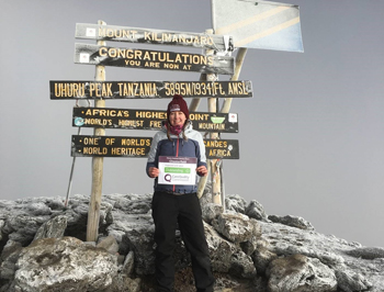 Fiona Clark, Head of Operations at Home Instead Senior Care Chesterfield, has raised an amazing £554 for the charity Mind, by trekking 5,895 metres up Mount Kilimanjaro.
