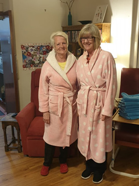 A care home's pyjama dementia initiative has gone viral after a Facebook post was shared to around 13 million people in just seven days.