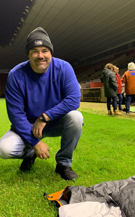 Justin Hutchens, Chief Executive of care home provider HC-One, took part in Darlington's CEO Sleepout Challenge, raising £5,260 and counting for local homelessness charities.
