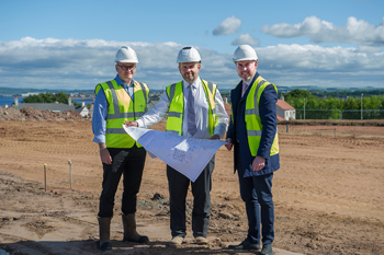 Work is now underway on the development of a new £7.5m care home in Doonfoot, Ayrshire, marked by an official sod cutting ceremony on site.