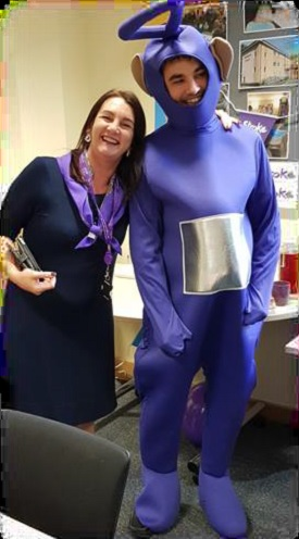 Tinky-Winky made a guest appearance at Avante Care's fundraising event for 'Make May Purple for stroke'.