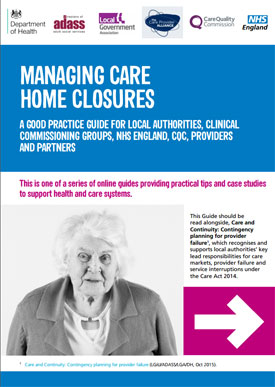 CQC publishes care home closure guidance to protect service users