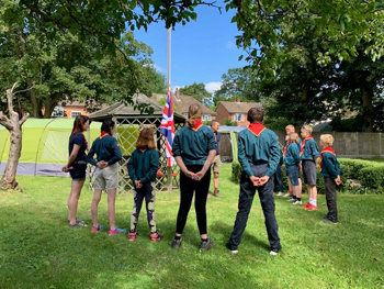 The tents were pitched, the BBQ lit and the flag was flying at Bridge Haven care home when the Nailbourne Scout Group arrived to spend the weekend camping out with residents and care staff within the grounds of the home.