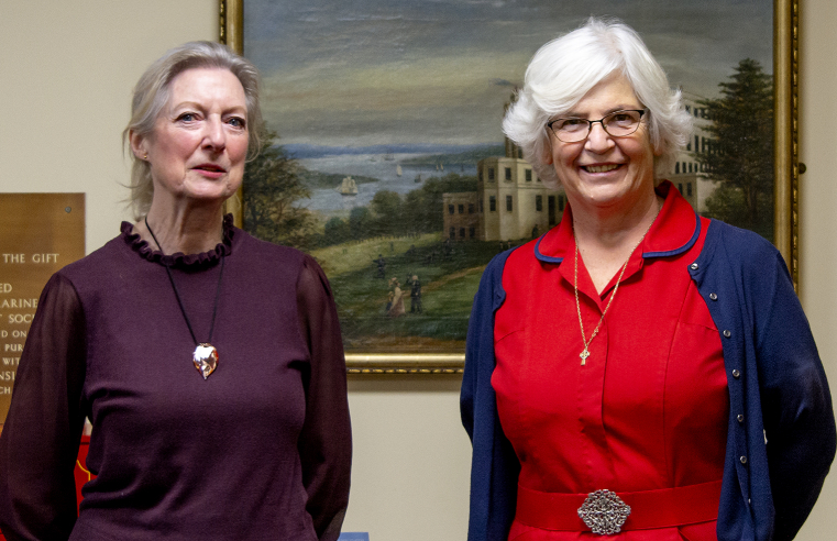 L-R Margaret Brazier, Executive Assistant to the CEO and Anne Kasey, Home Manager