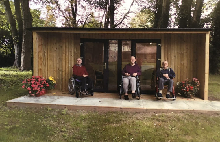 GARDEN 'POD' KEEPS RESIDENTS CONNECTED TO LOVED ONES