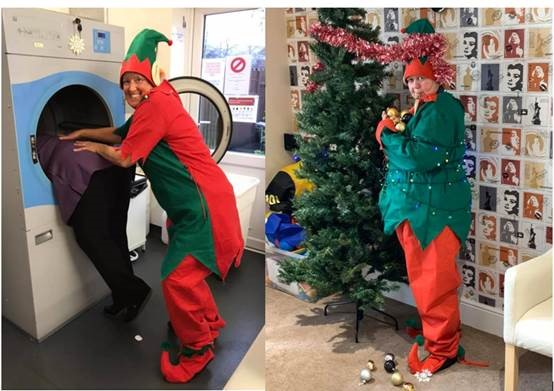 A care home team in Nottinghamshire has been taking turns to play the role of 'elf on the shelf', causing chaos around the home each day.