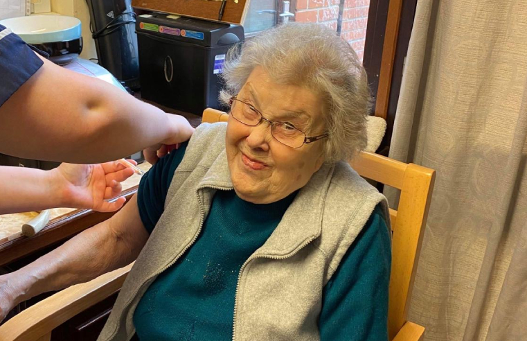 The Beeches Residential Home was visited by its local doctor who immunised all residents and staff with the second dose of the AstraZeneca vaccine.