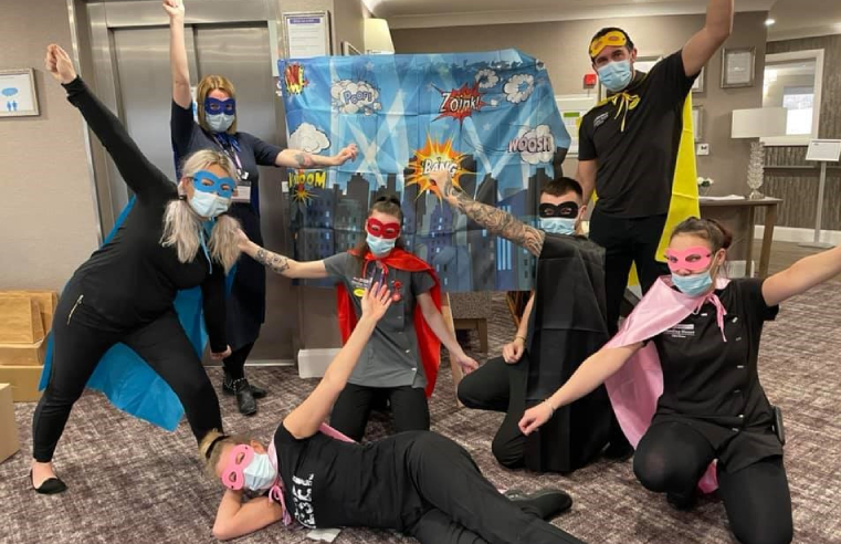 Management at Handley House care home in York created a fun superhero-themed day to thank their staff for all of their 'super' work during the course of the coronavirus pandemic.