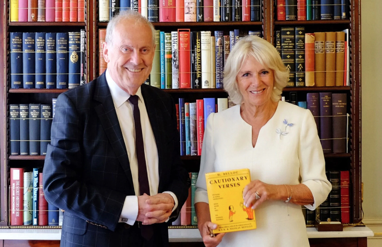 The Duchess of Cornwall joined Gyles Brandreth to support the #PoetryTogether2020 campaign. .