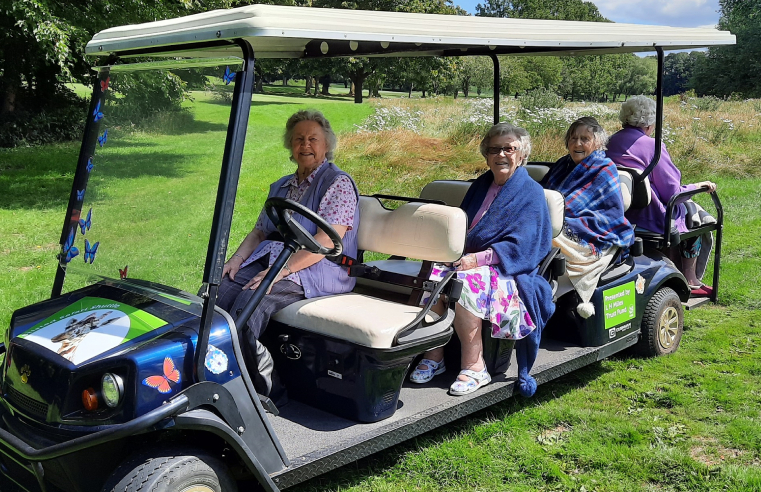 Residents at RMBI Care Co. Home Prince Edward Duke of Kent Court enjoying the new Stisted Safari.