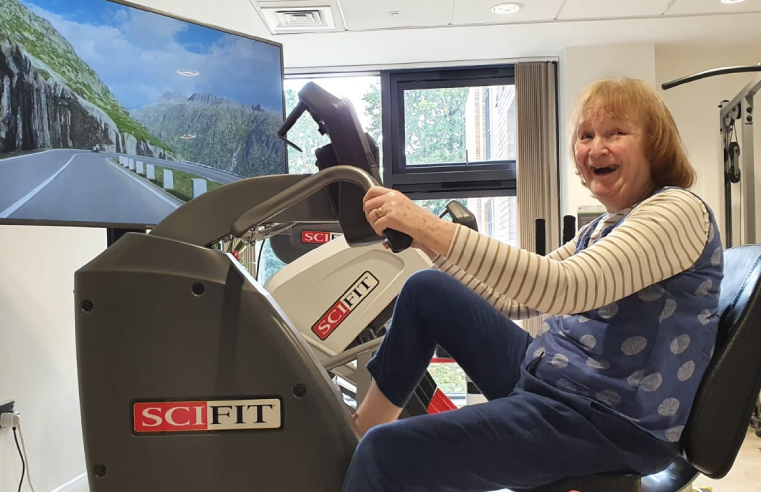 Belong resident Kate, 70, cycling for gold.