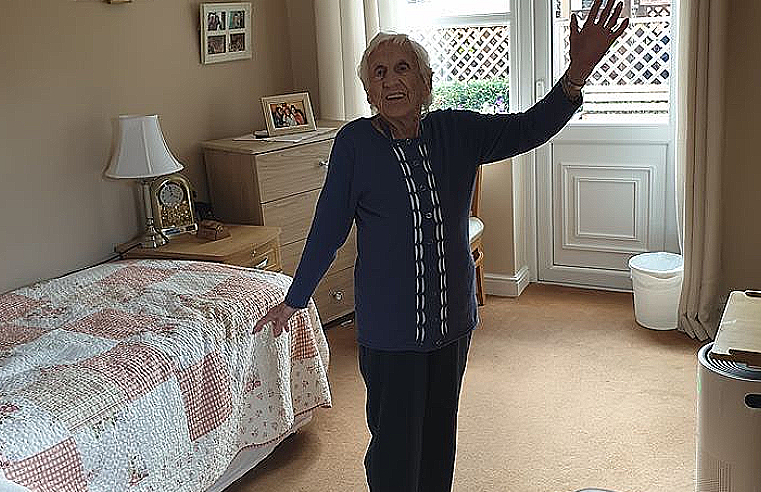 Nellie Reed, Newfield Lodge care home resident