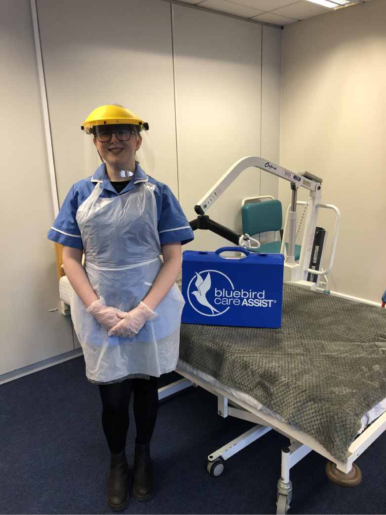 Bluebird Care Care Assistant with The Safety Kit